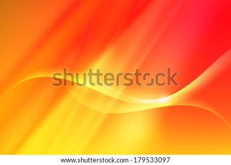 Abstract line with curve on yellow to red background - stock photo