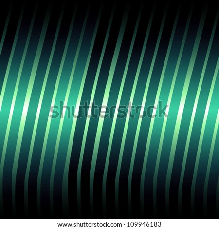 Abstract lines green shiny background/texture - stock photo