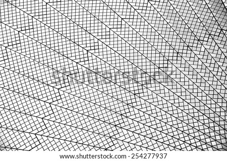 Abstract lines in black and white, abstract exterior background in Sydney, granite wall,lines,black and white photo,diagonal, angle, exterior, interior, architecture background, pattern - stock photo