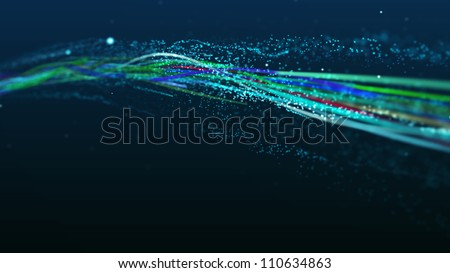 Abstract lines (wire, optical fiber) - stock photo