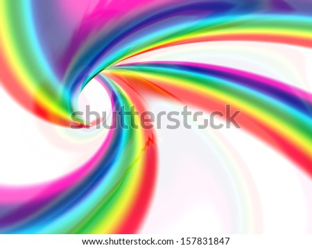 abstract liquid vortex full of color - stock photo