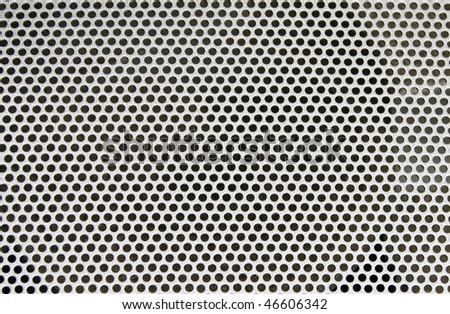 Abstract loud speaker aluminum grill texture - stock photo
