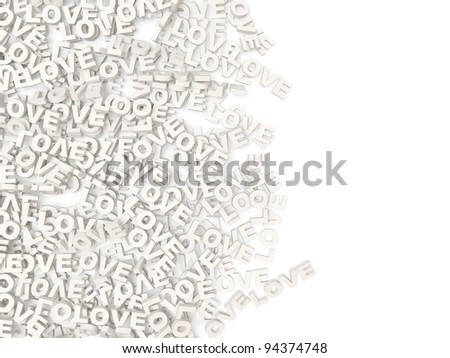Abstract Love Background with place for your text - stock photo
