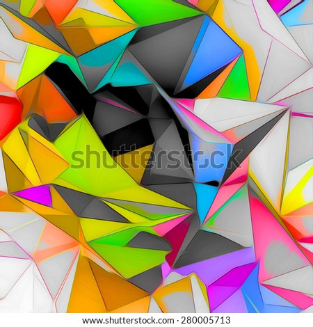 Abstract low poly background - stock photo
