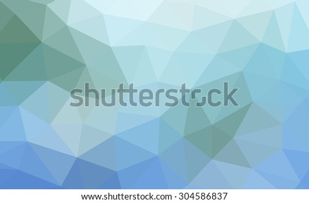 Abstract low poly gradient background with blue and green colors - stock photo