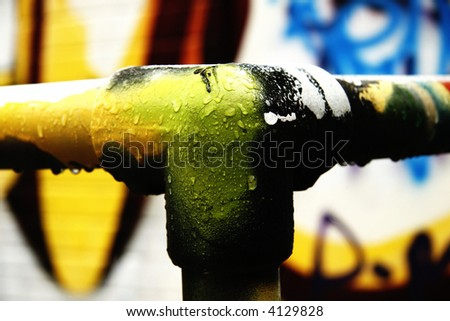 Abstract Macro Graffiti image - stock photo