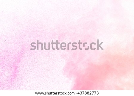 Abstract magenta water vapor on a white background. Texture. Design elements. Abstract art. Steam the humidifier. Macro shot. - stock photo