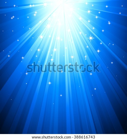 Abstract magic blue light background. Blue sunburst ray - stock photo