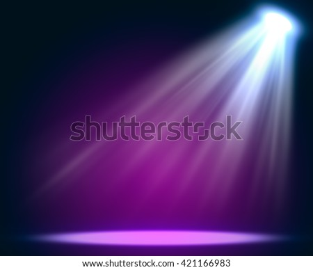 Abstract magic light background. Empty copy space for exhibition - stock photo