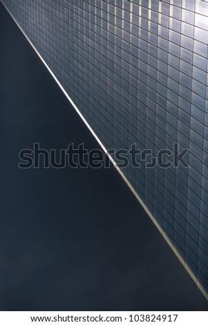 Abstract Manhattan skyscraper - stock photo