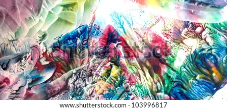 Abstract manual painted landscape - stock photo