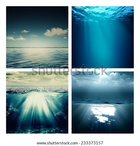 Abstract marine assorted backgrounds for your design - stock photo