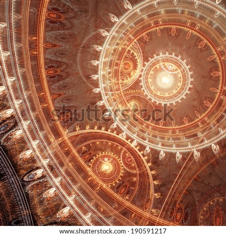 Abstract mechanical background - stock photo
