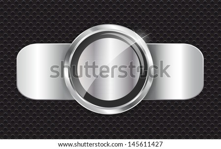 Abstract metal background   illustration - stock photo