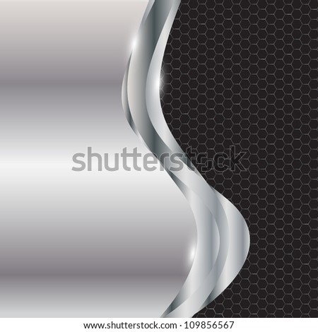 Abstract metal background.  raster version illustration. - stock photo