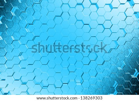 Abstract metal 3d molecules medical background - stock photo