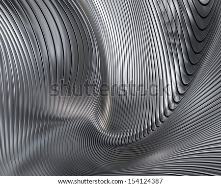 Abstract metallic architectural wallpaper. Elegant geometric chrome background design - stock photo