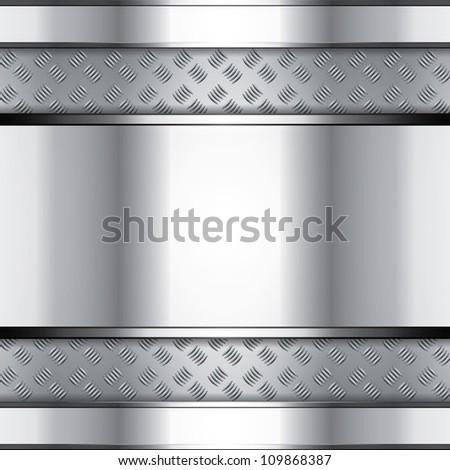 Abstract metallic background - steel style - stock photo