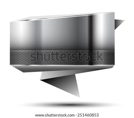 Abstract metallic banner. Illustration.  - stock photo