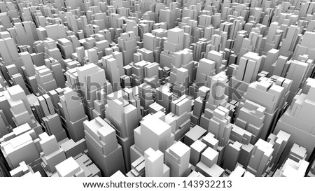 abstract metropolis 06 - stock photo