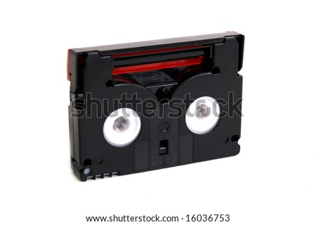 Abstract minidv video tape isolated on white background - stock photo