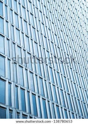 abstract modern building background - stock photo