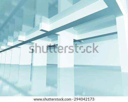 Abstract Modern Design Architecture Background. 3d Render Illustration - stock photo