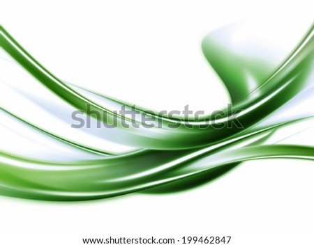 Abstract Modern Green And White Background - stock photo