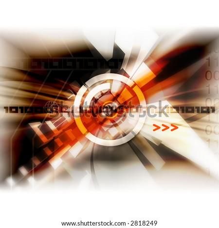 Abstract & modern illustration. - stock photo