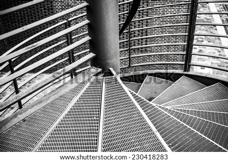 abstract modern staircase detail - stock photo