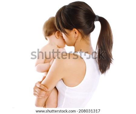 Abstract mom and baby - stock photo