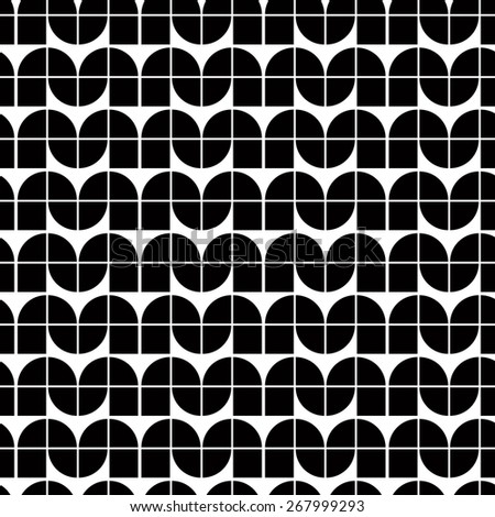 Abstract monochrome tiles seamless pattern, retro style repeating background.  - stock photo