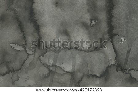 abstract monochrome watercolor painting on paper - stock photo