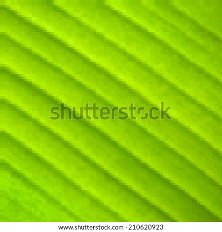Abstract mosaic colorful banana leaf macro background. Modern design. Square illustration. - stock photo