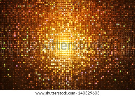 Abstract mosaic : night style - stock photo