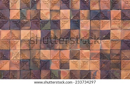 Abstract mosaic tiles for background. - stock photo