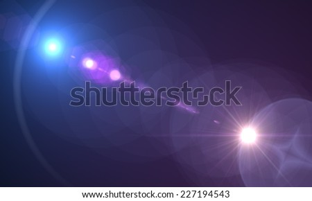 Abstract Motion Background With Lens Flares - stock photo