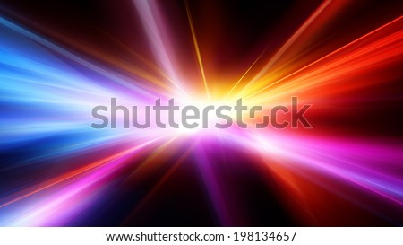 Abstract motion blur background with power explosion - stock photo