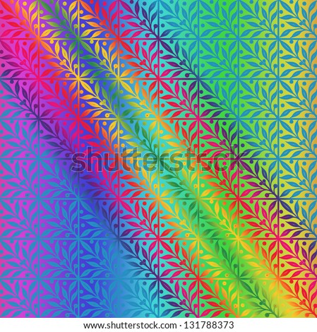 Abstract multicolor leaf background - stock photo