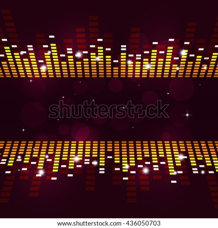 abstract multicolor music equalizer poster for active parties - stock photo