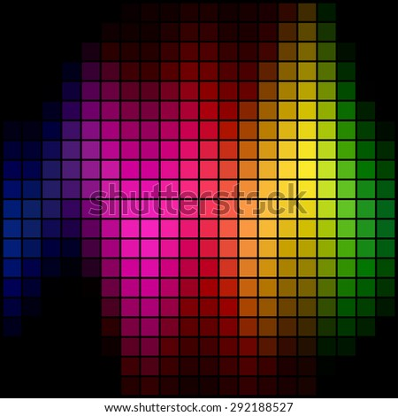 Abstract multicolor spectrum spot mosaic background. - stock photo