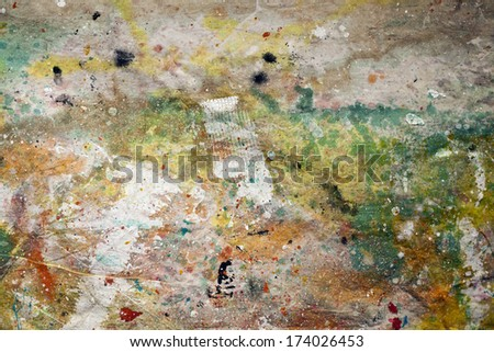 Abstract Multicolored Canvas Background - stock photo