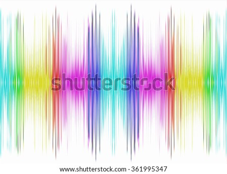 Abstract multicolored equalizer on white background.Digitally generated image. - stock photo