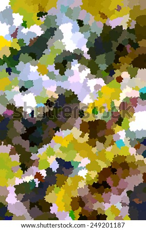 Abstract multicolored foliage background for nature themes - stock photo