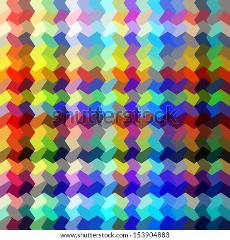 Abstract multicolored random shape blocks illustration. - stock photo