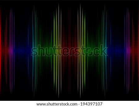 Abstract multicolored sound equalizer as background.Digitally generated image. - stock photo