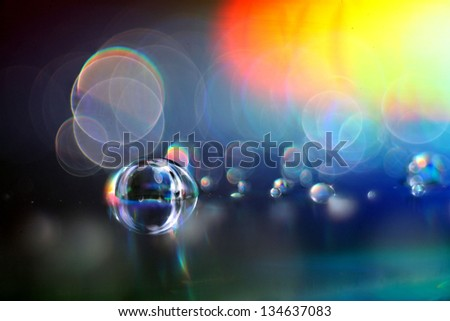 abstract multicolored texture blur bokeh - stock photo