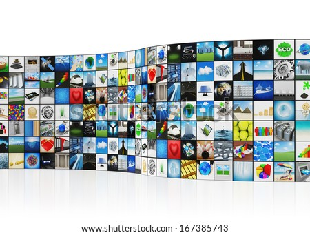 Abstract Multimedia Background - stock photo