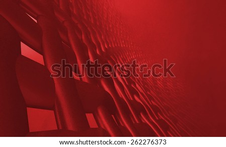 Abstract muscle fiber background and red blood cells. Organic Tissue Texture the structure human immune system - stock photo
