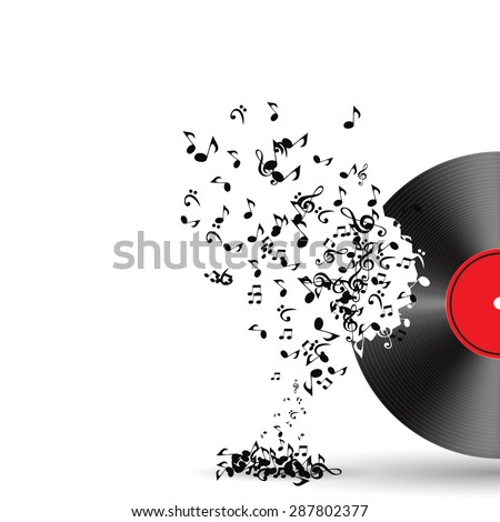Abstract music background  illustration for your design.  - stock photo